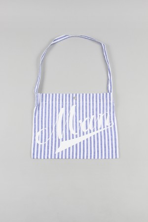 Junya Watanabe Comme des Garcons Man LINEN STRIPE TOTE BAG (WE-K214-051)