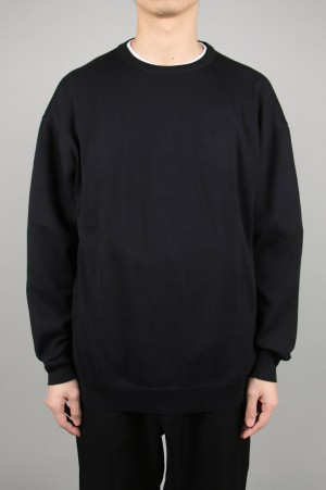 Graphpaper - Men - Suvin L/S Crew Neck Knit - BLACK (GM201-80123B)