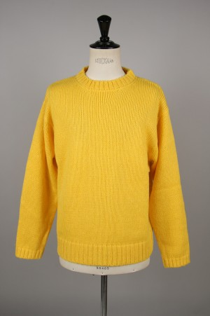 Unused -Men- 3G CREW NECK KNIT -YELLOW- (US1644)