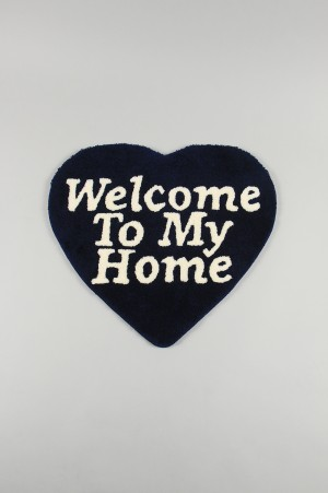Second Lab. WELCOME TO MY HOME RUG MAT - NAVY (SD2007)