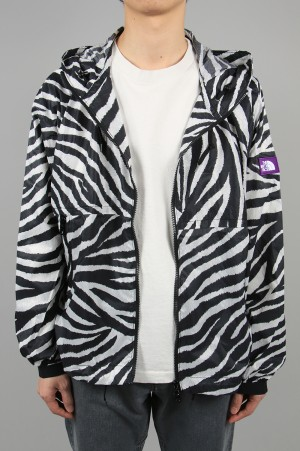 The North Face Purple Label - Men - PERTEX(R) Zebra Print Mountain Wind Parka - Zebra (NP2009N)