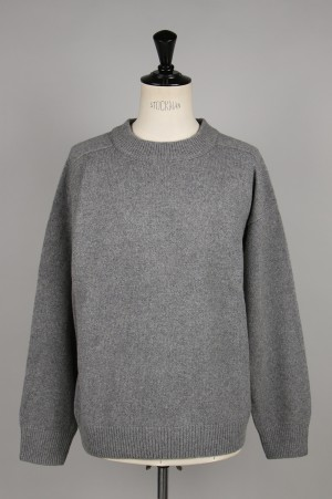Unused -Men- 5G CREW NECK KNIT -GRAY- (US1676)