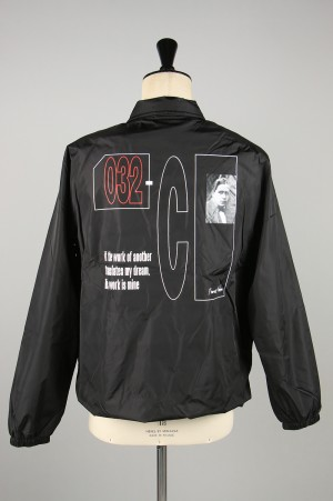 032c PATENT JACKET WITH LOGO AND EMB PATCHES(LSD012SB002)