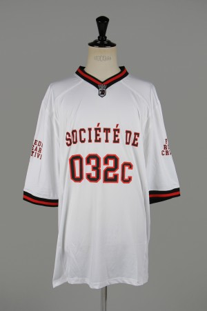 032c FOOTBALL JERSEY WITH PUFF PRINT / WHITE(LSD044SB007)