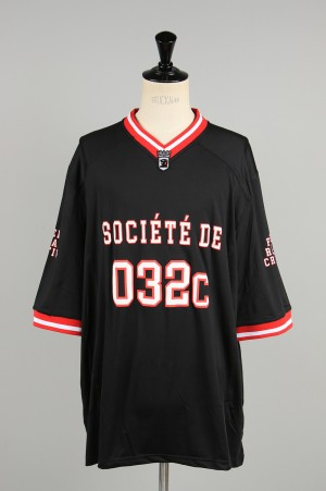 032c FOOTBALL JERSEY WITH PUFF PRINT / BLACK(LSD044SB007)