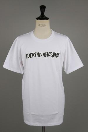 Fucking Awesome Puff Outline Logo Tee / White