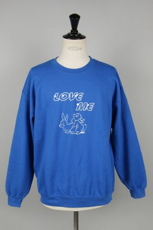 Unused -Men- BACK DOOR × T-BONE FLETCHER / SWEAT SHIRT -ROYAL BLUE- (US1807)