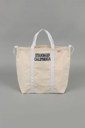 Standard California SD MADE IN USA CANVAS SHOULDER BAG -NATURAL