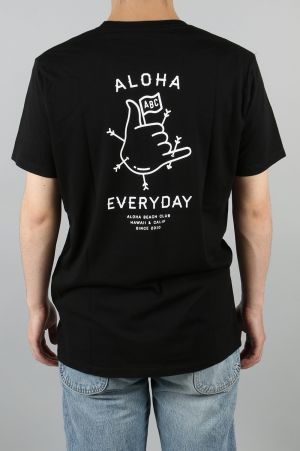 Aloha Beach Club ALOHA EVERYDAY TEE - BLACK (TS0025)