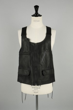 Facetasm -Men- RIB LEATHER VEST (RB-VE-M03)