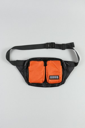Human With Attitude DATA WAIST BAG-BLACK ORANGE