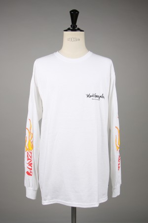 Mark Gonzales L/S TEE - WHITE (MG19S-LT02)