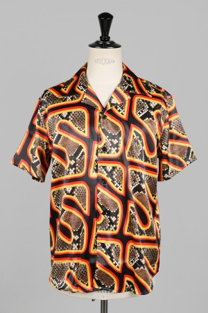 SSS World Corp Cougar Black Hawaiian Shirt Short Sleeve