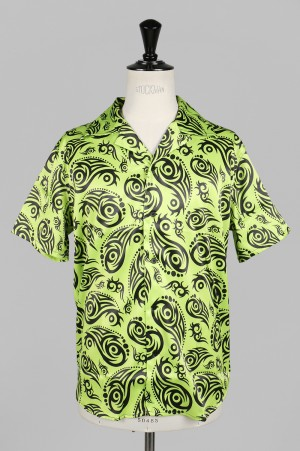 SSS World Corp Cougar Lime Hawaiian Shirt Short Sleeve