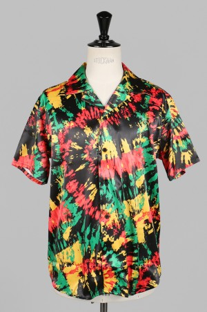 SSS World Corp Cougar Multi Hawaiian Shirt Short Sleeve