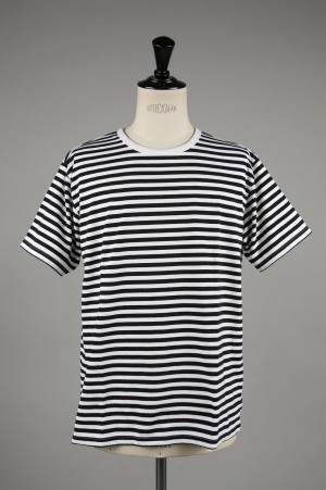 nanamica - Men - COOLMAX ST. JERSEY TEE - BLACK / WHITE (SUHS850)