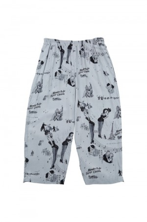 Porter Classic BLONDES PREFER PC  ALOHA PANTS / GRAY (PC-024-1078)