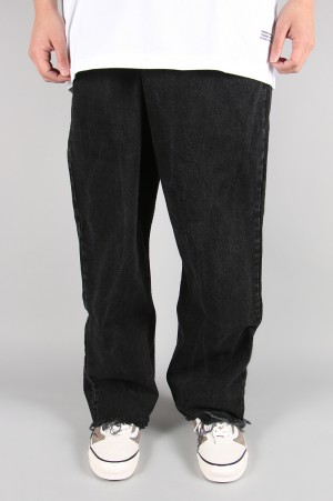 Maison Eureka -Men- VINTAGE REWORK BIGGY PANTS-BLACK (017)