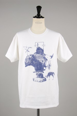 Masses T-SHIRT DorA / WHITExBLUE