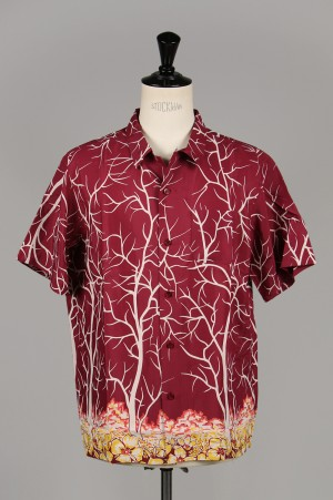 Masses RAYON PRINT SHIRT V S / BURGUNDY