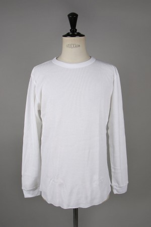 Hanes Crew Neck Thermal Long Sleeve - WHITE (HM4-N001)
