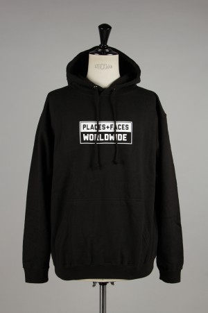 Places+Faces WORLDWIDE HOODIE/BLACK