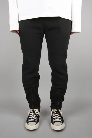 YSTRDY'S TMRRW POLARTEC(R)  FLEECE RIBBED PACIFISM EASY PANTS - BLACK - (YT-P0515)
