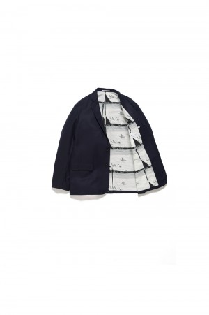 Graphpaper - Men - FUTUR × Graphpaper Canonico Jacket - NAVY (GM194-20701)