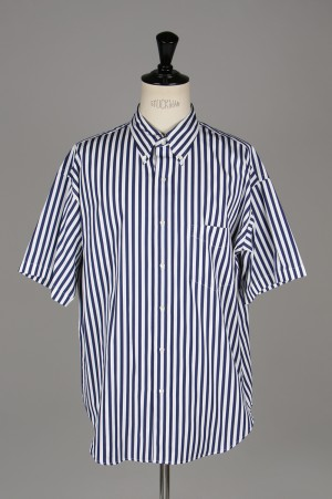 Graphpaper - Men - THOMAS MASON S/S B.D Box Shirt - WHITE ST - (GM192-50034B)