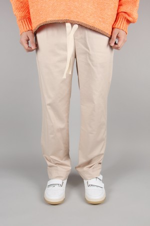 Unused -Men- EASY PANTS -BEIGE- (UW0744)