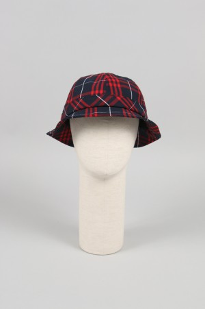 Pop Trading Company BELL HAT IN RED/NAVY PLAID(POPAW1907012)