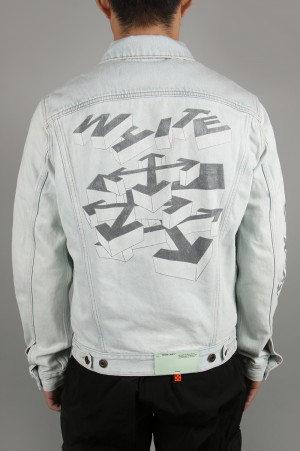 Off-White 3D PENCIL SLIM JEANS JACKET (OMYE005R203860107110)