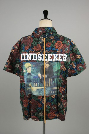 Mind Seeker MANE Flower Short Sleeve Shirt / BLACK(MS-20SS-08)