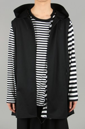 Y-3 -Men- Y-3 CRAFT 3 STRIPE HOODED VEST(FN5753-APPS20)